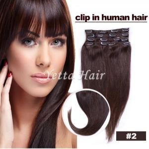 China Smooth Soft Pre Bonded Dip Dye Hair Extensions / Dark Brown Virgin Hair on sale