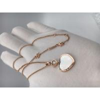 Quality Diamond Mother Of Pearl 18K Gold Necklace With Chopard Happy Hearts Pendant for sale