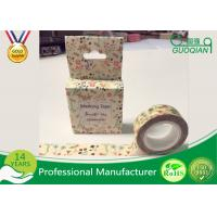 Quality DIY Japanese Washi Masking Tape 1.5cm X 10m For Wall Decorative And Gift Box for sale