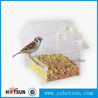 Quality Wholesale 2016 Custom Hanging Bird Water Feeder,Grateful Gnome Window Brid Feeder,Acrylic Clear for sale