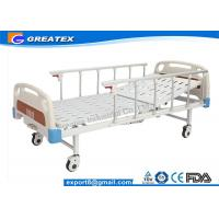 Quality Aluminum Alloy Handrail Single Crank Manual Hospital Bed With Silent Wheels for sale