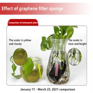 Quality Graphene Aquarium Bio Fish Tank Filter Sponge Shockproof for sale