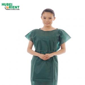 Quality Bacterial Prevention No Sleeve Nonwoven Disposable Patient Gown for sale