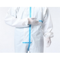Quality Hospital Breathable PPE Disposable Medical Protective Coverall With Tape for sale