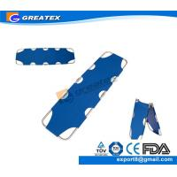 Quality Oxford Cloth Aluminum Alloy Two Folding Emergency Rescue Medical Stretcher (GT-FS05) for sale