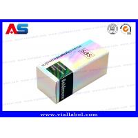 Quality Laser Holographic 30mL Bottle Boxes Cardboard Paper / PET / PVC Material for sale