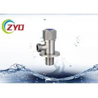Quality Pressure Safety Stainless Steel Angle Valve , Brass Cartridge Stainless Valves for sale