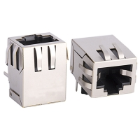 Buy 1X1 10 100Base-Tx RJ45 Single Port / RJ45 Ethernet Jack Without LEDS Tab Down at wholesale prices