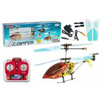Quality Red 3CH RTF Electrical Metal Remote RC Helicopters with Gyroscope ES-QS9008 , EN71 for sale