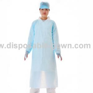 Quality Antibacterial Polythene Disposable Long Sleeve Gown For Clinic for sale