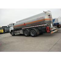 Quality 10 Wheels 336HP 18M3 Oil Tanker Truck For Oil Transportation , White Color for sale