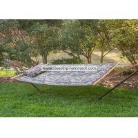 Camouflage Outdoor Quilted Tree Stand Alone Hammock With Stand Solid Hardwood Bar