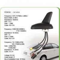 Quality Black AM FM Car GPS Antenna With 0.3M Sticker , SMA Male Connector for sale