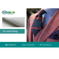 Quality White Polyester Tie Interlining Fabric For Silk Tie Shrink Resistant for sale