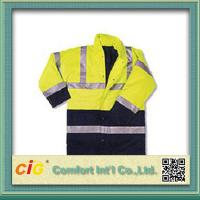 Quality Hi Viz High Visibility Winter Protection Reflective Safety Coat Security Clothing Polyster & Oxford for sale