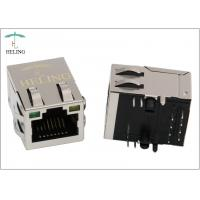 """Quality 1 x 1 Shielded RJ45 Magnetic Jack 30 U"""" / 50 U"""" Gold Plating Contact Terminal for sale"""