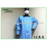 Quality Waterproof Unisex Standard Safety Disposable Surgical Gowns Blue Color for sale