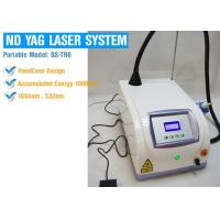 China Professional 1064nm / 532nm Laser Tattoo Removal Equipment , ND Yag Q Switched Laser Machine on sale