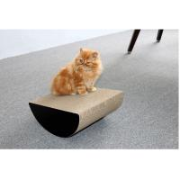 Quality Semi - Circle Shape Cat Toy Scratcher Corrugated Promote Good Scratching Habits for sale