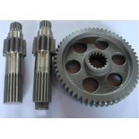 Quality copper, brass, bronze gear shaft for machine, machinery parts customized small module pinion spur gear shaft for sale