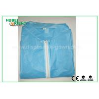 Quality Colored Zip medical lab coats for Workers , lightweight lab protective clothing for sale