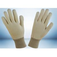 Quality Natural White 100% Cotton Work Gloves No Fluorescent Brightener Added for sale