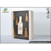 Quality High End Paper Wine Box Gold Hot Stamping Finishing Hardcover Hand Box for sale