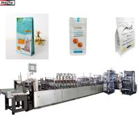 Quality Flat Bottom Pouch Bag Making Machine / High Speed Food Bag Making Machine for sale