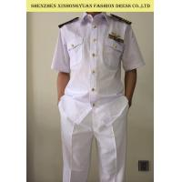 Buy Ventilate Cotton White Police Uniform Shirts With Trousers Government Civil Servant Clothing at wholesale prices