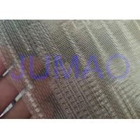 Buy Metal Type Glass Partition Fine Woven Wire Mesh With Float Glass CE Approved at wholesale prices