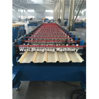 Quality Coated Sheet Steel Cold Roll Forming Machine With Touch Screen PLC Frequency Control for sale
