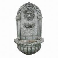 Quality Li-ion Head Classic Wall Fountain, Made of Fiberglass, Direct Electric Pump for sale
