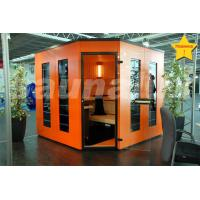 Quality Solid / Cedar Wood German Saunas Cabin with Color Therapy LED strip for sale