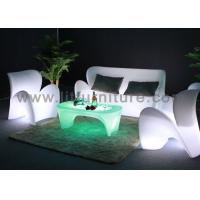 Rechargeable Led Plastic Outdoor Sofa Lounge PE Illuminated Modern Design