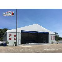 Quality Waterproof And Flame Retardant Cover Aircraft Hangar Tent With Auto Roll Up Door / 25m Width Aluminum Frame for sale