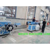 Quality Plastic PE Single Wall Corrugated Pipe Production Line In Electric Thread - Passing Pipes for sale