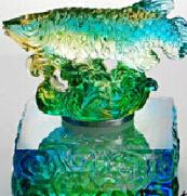 Quality Feng shui Golden Fish Art Glass Crafts/ colored glaze/Liu li Factory outlets for sale