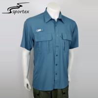 Buy cheap Cotton Mens Fishing Shirts Anti Shrink Long Service Life Customized Color from wholesalers