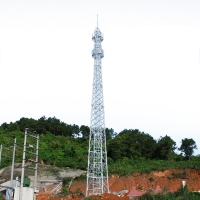 Buy Electric Steel Structure 25m Guyed Lattice Tower at wholesale prices