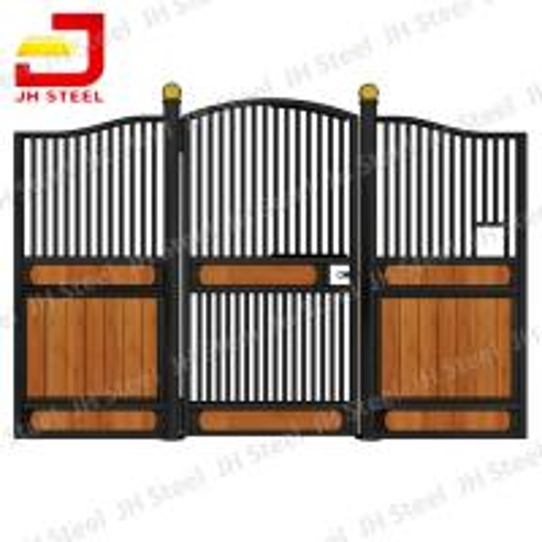 Steel Frame Bamboo Horse Stall Gates , Custom Prefab Horse