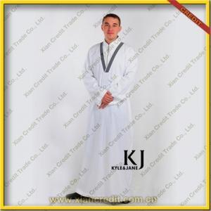 China Fashionable white men thobe islamic clothing popular in England KJN-001 on sale