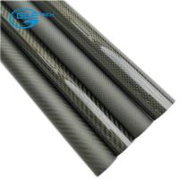 Quality 14mm(12mm) Woven Finish Carbon Fibre Tube - 1m Length for sale