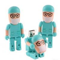 Quality 128MB , 4GB, 8GB, 16GB Doctor Robot Cartoon USB Flash Drive disks 2.0 AT-509 for sale