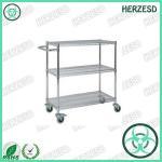 Quality HZ-28103 Three Layers ESD Wire Shelf Trolley for sale
