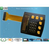 Quality High Glossy Metal Dome Membrane Switch With Aluminum Backplate & FPC Flexible Printed Circuit for sale