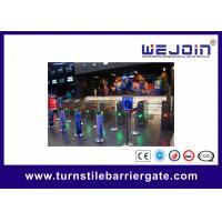 Buy cheap Full Auto Access Control Flap Barrier Gate Anti reversing Turnstile Entry Systems from wholesalers