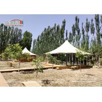 Buy cheap High Peak 2 People Luxury Glamping Tents With White Roof Cover And Glass Walls from wholesalers