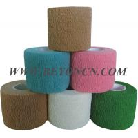Quality Hand Tear Self - adhesive Cotton Elastic Bandage To Control Varicose Veins for sale