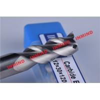 Quality HRC50 8mm / 10mm / 12mm Aluminium End Mill 3 Flute No Coating 45º Helix Angle for sale