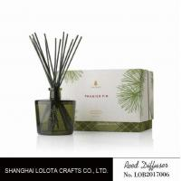 Quality Blackish green color bottle with natural stick and rigid gift box for sale